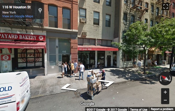 Street View image of 116 W Houston Street, New York, New York State, USA