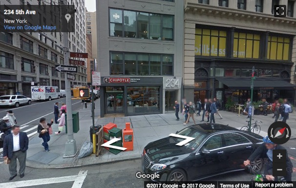 Street View image of 234 5th Avenue, 2nd Floor, New York, New York State, USA
