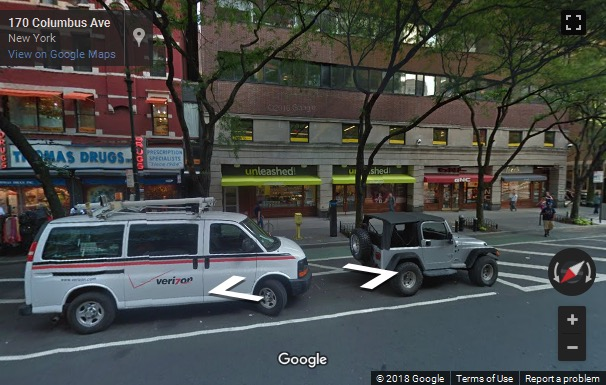 Street View image of 157 Columbus Avenue, 4th floor, New York, New York State, USA