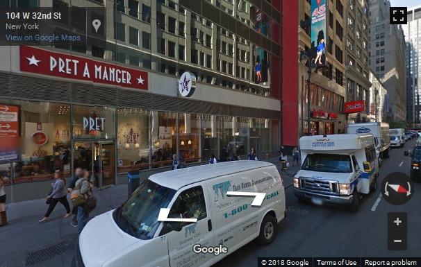 Street View image of 106 West 32nd Street, 2nd Floor, New York, NY, USA