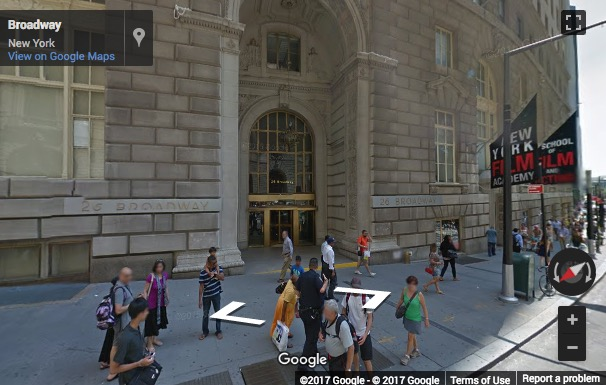 Street View image of 26 Broadway, 8th Floor, New York, New York State, USA