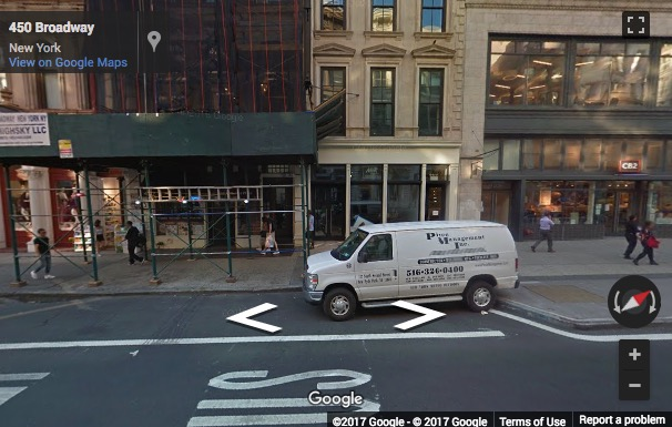 Street View image of 447 Broadway 2nd Floor, New York, New York State, USA