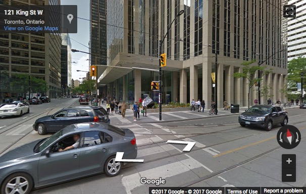 Street View image of 100 King Street West, 37th Floor, Suite 5600, First Canadian Place, Toronto