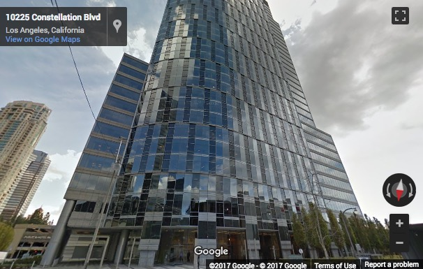 Street View image of 10250 Constellation Blvd, Los Angeles, California
